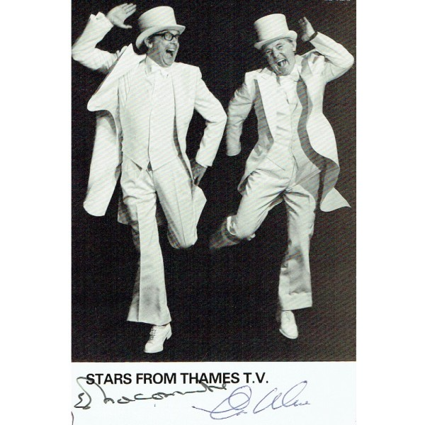 Morecambe and Wise genuine authentic signed autographs