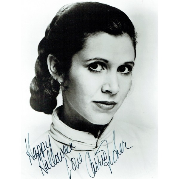 Carrie Fisher signed authentic genuine signature