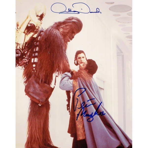 Star Wars - Anthony Daniels & Peter Mayhew  genuine authentic signed autographs