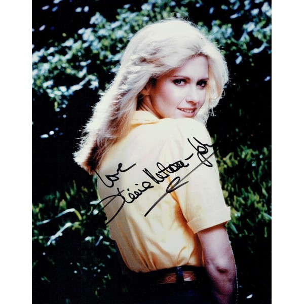 Olivia Newton John signed authentic genuine signature