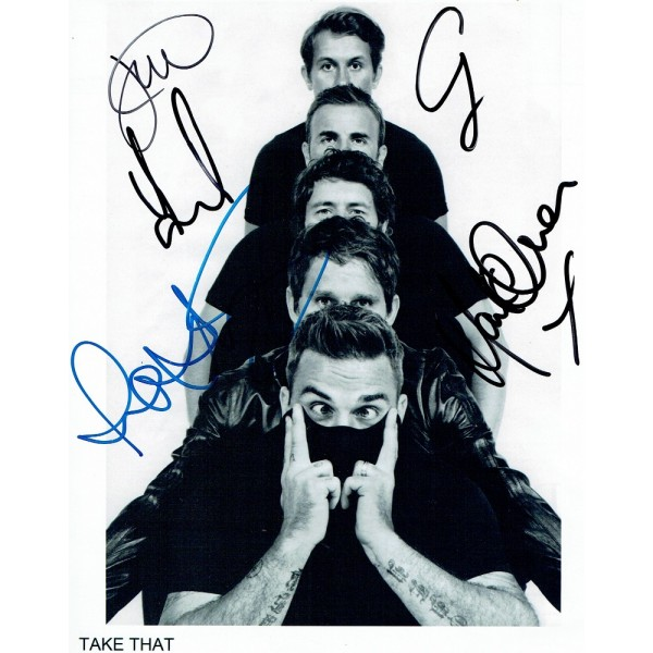 Take That  authentic genuine signed autographs