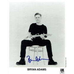 Bryan Adams  signed authentic genuine signature