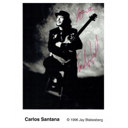 Carlos Santana genuine authentic signed autographs