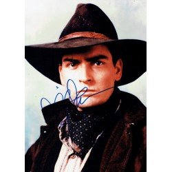 Charlie Sheen original authentic genuine autograph signed photo
