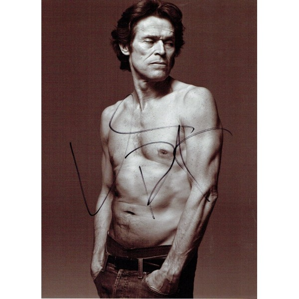 Willem Dafoe genuine authentic signed autographs