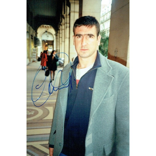 Eric Cantona signed authentic genuine signature