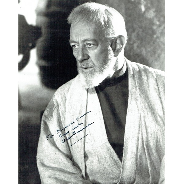 Alec Guinness  Star wars genuine authentic signed autographs
