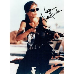 Linda Hamilton  original authentic genuine autograph signed photo