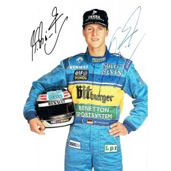 Michael Schumacher genuine authentic signed autograph signatures postcard