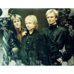 The Police genuine authentic signed autographs