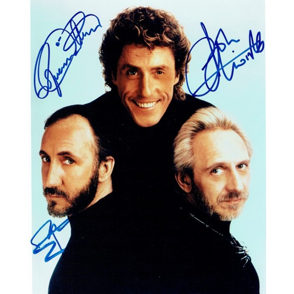 The Who genuine authentic signed autographs