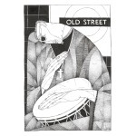 Old Street Busker rare signed music print by artist Christina Balit.